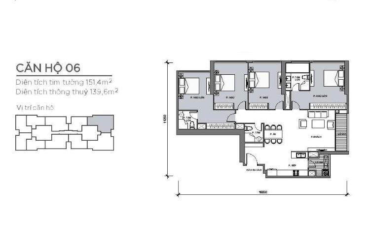 Căn hộ 4 phòng ngủ Căn hộ Vinhomes Central Park 3 phòng ngủ tầng trung P4 view sông