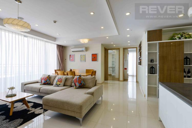 Phòng Khách Căn hộ Cantavil Premier tầng cao, 4PN đầy đủ nội thất