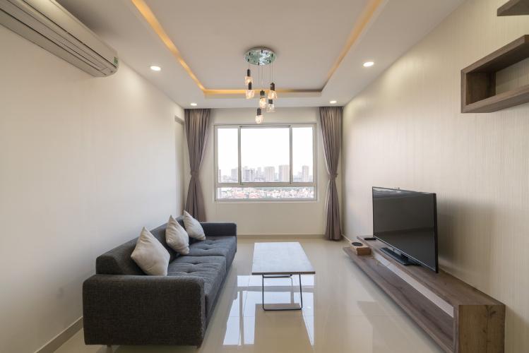 Phòng khách căn hộ Tropic Garden Căn hộ Tropic Garden tầng cao - nội thất cơ bản