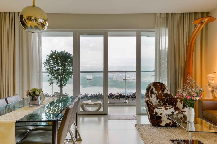 Cho thuê căn hộ Diamond Island - Đảo Kim Cương 3PN, tháp Brilliant, đầy đủ nội thất, view trực diện sông