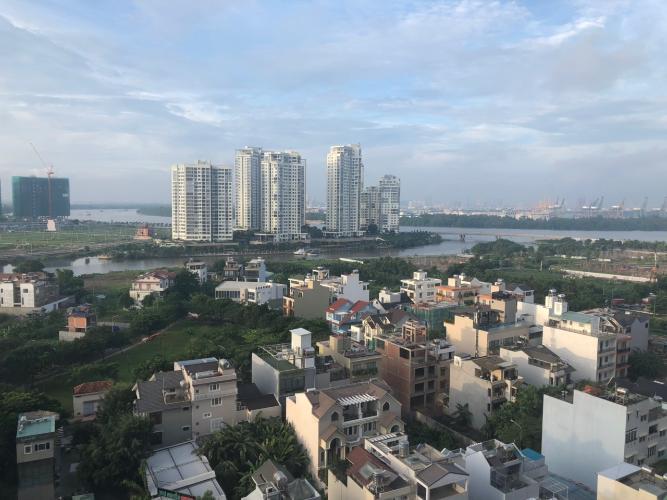 view cảnh căn hộ The Sun Căn hộ tầng 12 The Sun Avenue, view thành phố và Landmark 81