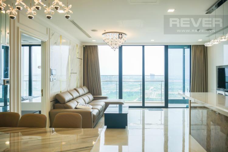 Phòng Khách Cho thuê căn hộ Vinhomes Golden River tầng cao, đầy đủ nội thất, view Sài Gòn và Bitexco
