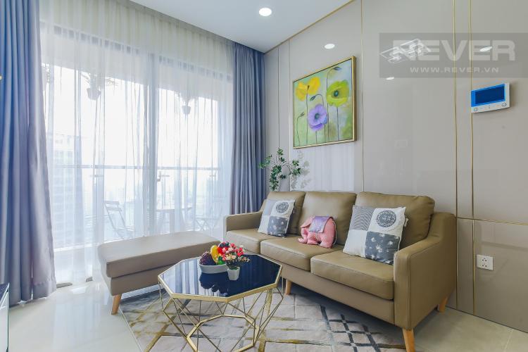 Phòng Khách Cho thuê căn hộ Masteri Millennium Quận 4 tầng cao, 2PN, đầy đủ nội thất