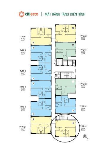 Bán nhanh căn hộ 2 phòng ngủ tầng cao Citi Esto, hướng Đông Bắc, hỗ trợ vay, giao dịch nhanh.
