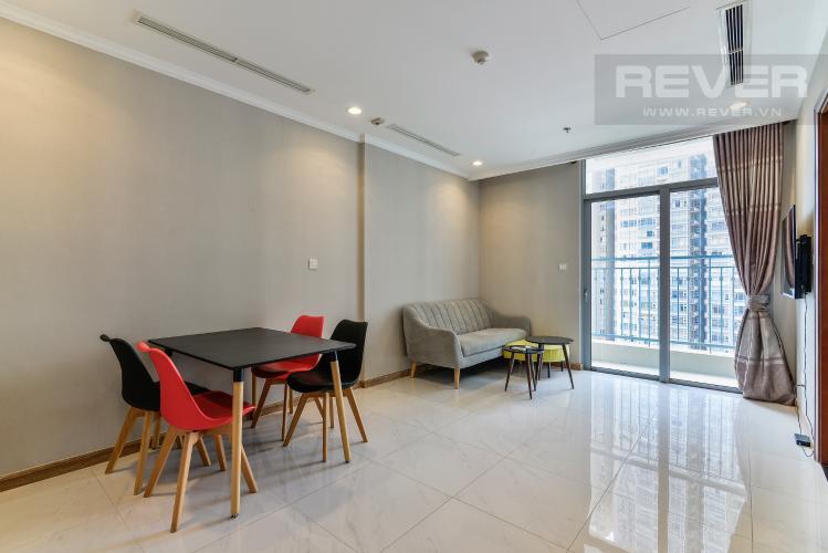 Phòng Khách Bán và cho thuê căn hộ Vinhomes Central Park tầng trung, 1PN, đầy đủ nội thất