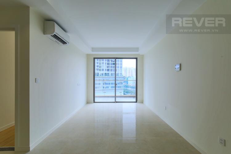 Phòng Khách Cho thuê căn hộ Masteri Millennium tầng trung, 2PN, có ban công