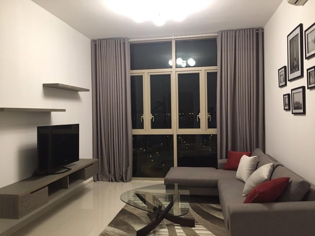 Phòng khách Bán căn hộ The Vista An Phú 2PN, tháp T2, đầy đủ nội thất, hướng Tây Bắc