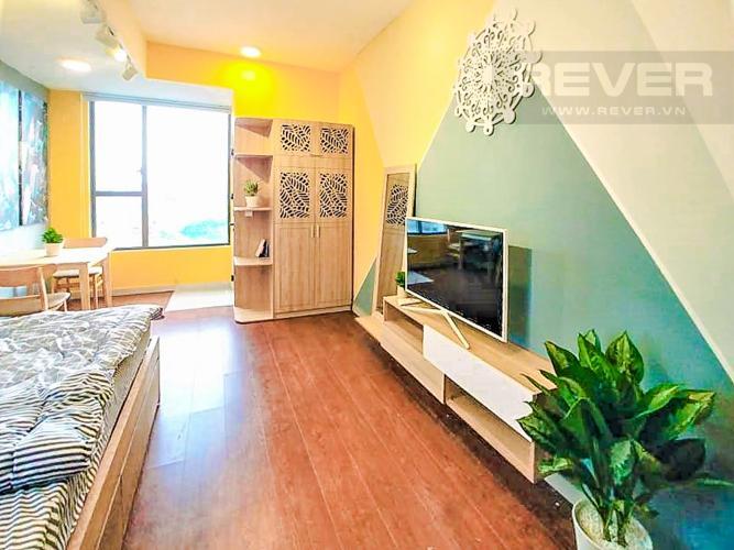 Phòng Khách Cho thuê căn hộ RiverGate Residence 1PN, tầng thấp, tháp B, đầy đủ nội thất, view sông Sài Gòn