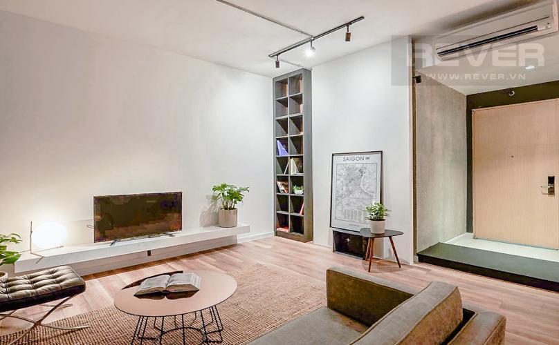 Phòng Khách Bán căn hộ The Ascent tầng trung, 2PN, nội thất đầy đủ
