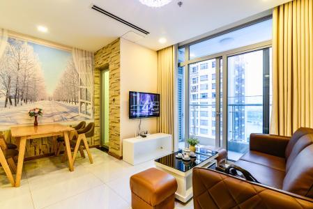Căn hộ Vinhomes Central Park 2 phòng ngủ tầng cao P1 nội thất đầy đủ