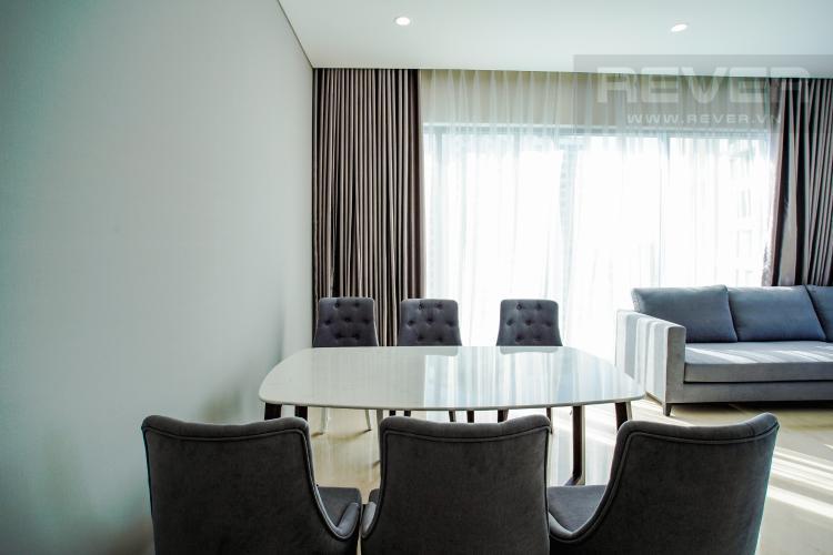 Phòng Ăn Bán hoặc cho thuê căn hộ Đảo Kim Cương 3PN tầng cao tháp Maldives, đầy đủ nội thất, view sông và Bitexco