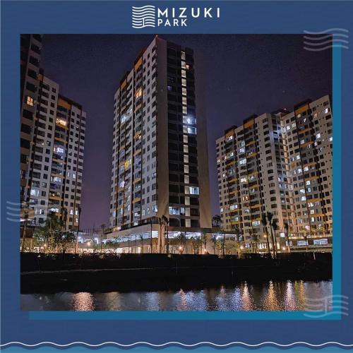 building căn hộ mizuki park Căn hộ Mizuki Park view cây xanh, sàn lót gỗ, nội thất cơ bản.