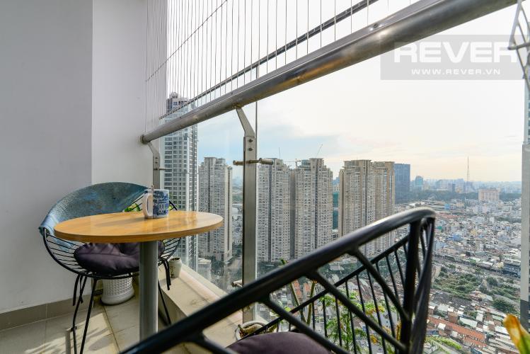 View Balcony Căn hộ Vinhomes Central Park tầng cao, 2PN, đầy đủ nội thất