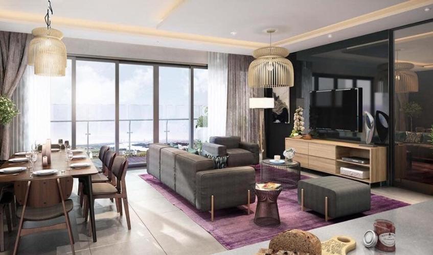 Không gian phòng khách và phòng ăn căn hộ Feliz en Vista Căn hộ Feliz En Vista nội thất cao cấp đầy đủ, dọn vào ở ngay