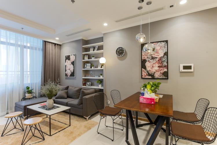 Căn hộ Vinhomes Central Park 2 phòng ngủ tầng thấp L5 đầy đủ tiện nghi