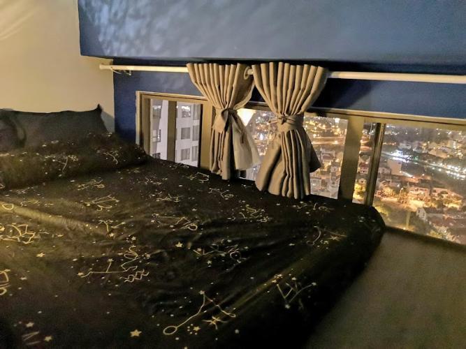 Phòng ngủ căn hộ The Sun Avenue, Quận 2 Căn hộ Vinhomes Grand Park tầng 24, bàn giao nội thất đầy đủ.