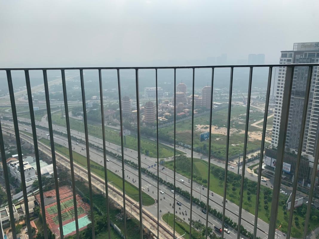 view về Quận 9 Cho thuê căn hộ Masteri An Phú 2 phòng ngủ, tầng cao, đầy đủ nội thất