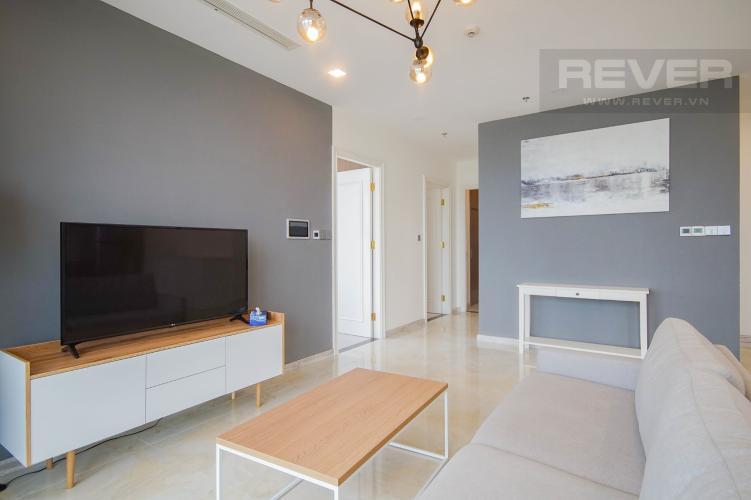 Phòng Khách Bán hoặc cho thuê căn hộ Vinhomes Golden River 3PN, tầng trung, đầy đủ nội thất, view sông Sài Gòn và Bitexco