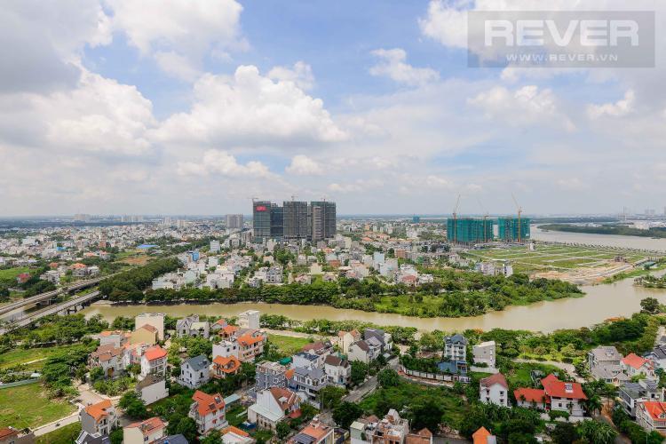 View từ căn hộ The Sun Avenue Cho thuê căn hộ The Sun Avenue, view thành phố thoáng mát, ở ngay.