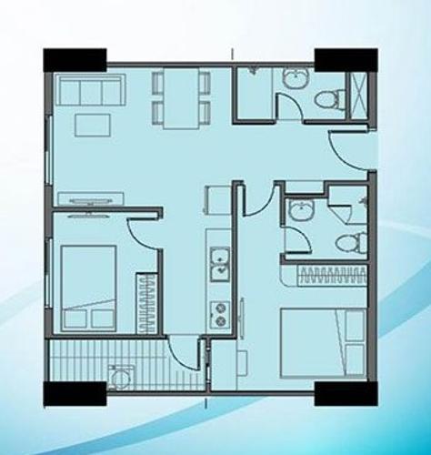 Layout căn hộ Bcons Garden , Dĩ An Căn hộ Bcons Suối Tiên tầng 4 view thoáng mát, nội thất cơ bản.