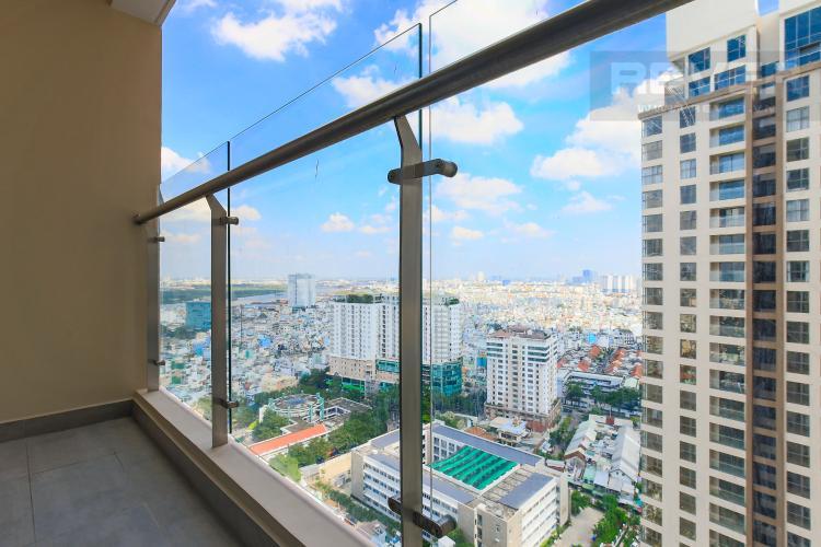 Balcony Bán căn hộ Masteri Millennium tầng cao, 2PN, có ban công rộng rãi