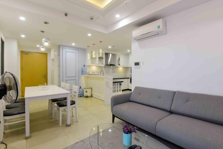 Phòng Khách Cho thuê căn hộ Masteri Thảo Điền 2PN tầng cao, nội thất đầy đủ, khu dân cư yên tĩnh
