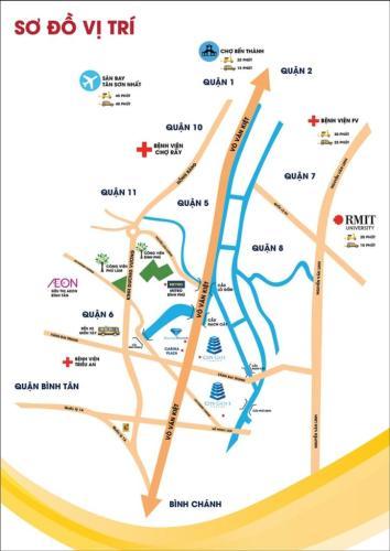 Vị trí City gate 3 Căn hộ City Gate 3 nội thất cơ bản 1 phòng ngủ view thành phố  .