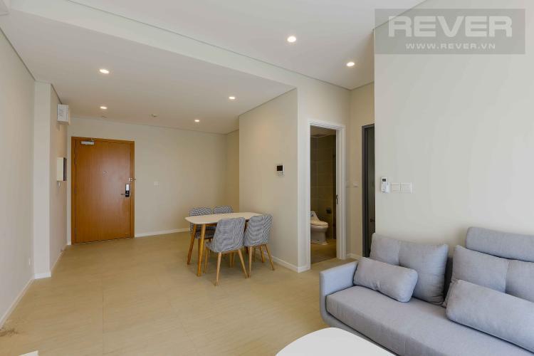 Phòng Khách Cho thuê căn hộ Diamond Island - Đảo Kim Cương 1PN, tháp Canary, đầy đủ nội thất, view nội khu xanh mát