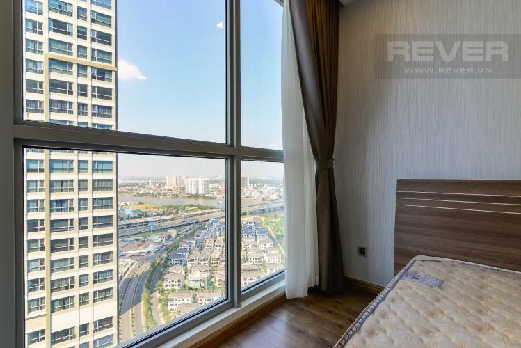 View Phòng Ngủ 1 Cho thuê căn hộ Vinhomes Central Park 2PN 2WC, đầy đủ nội thất, view sông