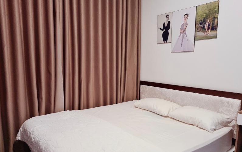 phòng  ngủ Căn hộ The Sun Avenue  Căn hộ tầng trung block 07 The Sun Avenue - view Đảo Kim Cương và Landmark 81