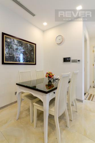 Phòng Ăn Cho thuê căn hộ Vinhomes Golden River 2PN, tầng thấp, tháp The Aqua 3, đầy đủ nội thất, view sông thoáng mát