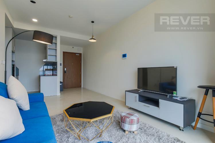 Phòng Khách Căn hộ Masteri Millennium tầng cao, 1PN nội thất đầy đủ