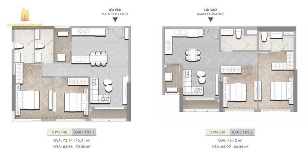 Layout căn hộ Masteri Centre Point, Quận 9 Căn hộ Masteri Centre Point nội thất cơ bản, view thoáng mát.