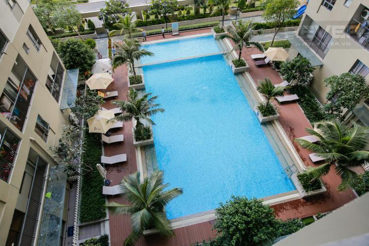 View Cho thuê căn hộ Masteri Thảo Điền tầng trung, 2PN, đầy đủ nội thất, view hồ bơi