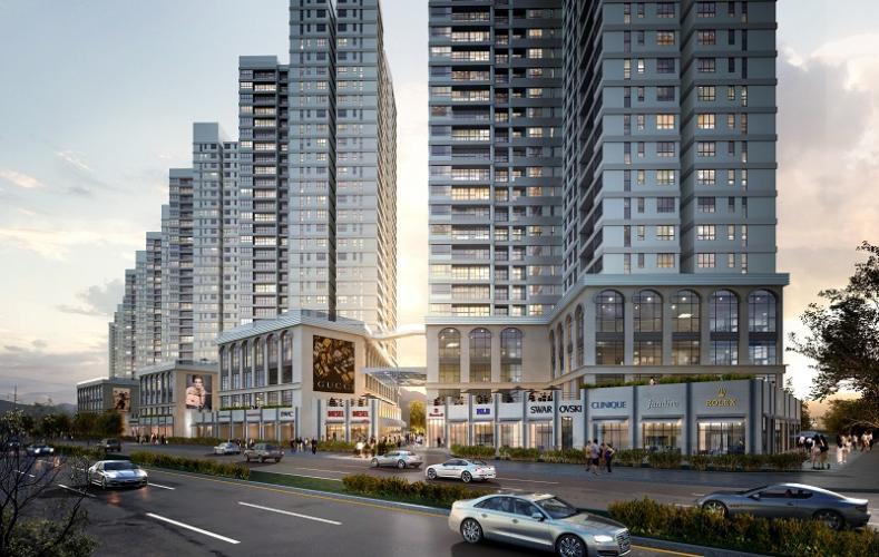 Căn hộ The Sun Avenue, Quận 2 Officetel The Sun Avenue tầng 19, đầy đủ nội thất sang trọng.