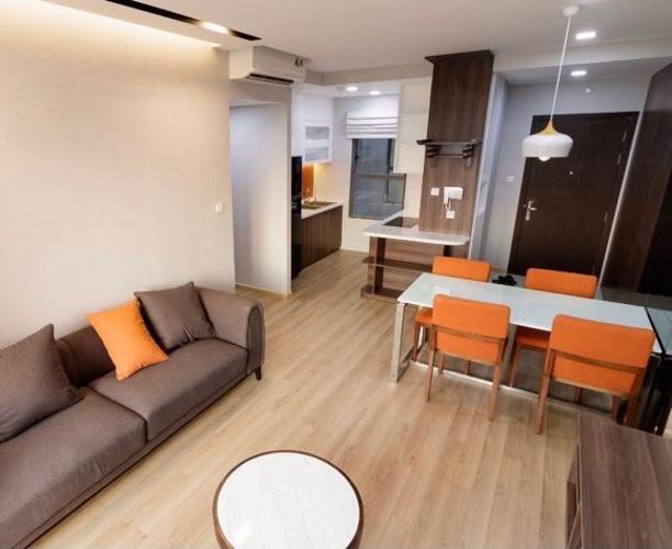 không gian căn hộ The Sun Căn hộ The Sun Avenue tầng cao, đầy đủ nội thất, ban công thoáng mát.