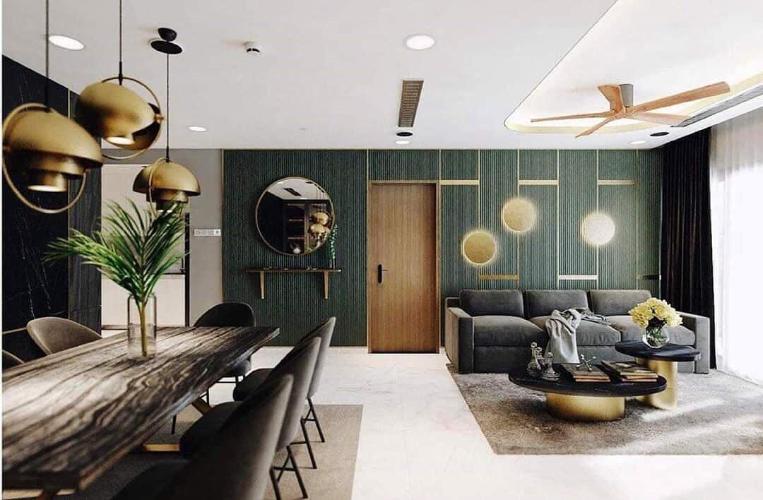 Căn hộ có 4 phòng ngủ Vinhomes Central Park tầng 12B, đầy đủ nội thất.