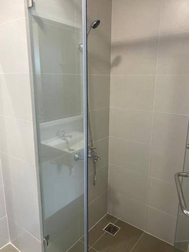 Phòng tắm Safira Khang Điền, Quận 9 Căn hộ Safira Khang Điền tầng trung, ban công hướng Tây Bắc.