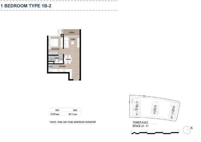 Căn hộ có 1 phòng ngủ The Metropole Thủ Thiêm tầng 5, nội thất cơ bản.