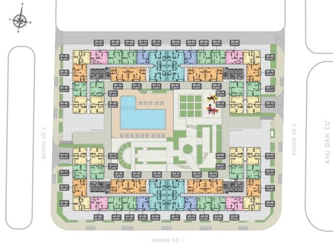 mặt bằng căn hộ q7 boulevard Căn hộ Q7 Boulevard nội thất cơ bản, 2 phòng ngủ, ban công rộng