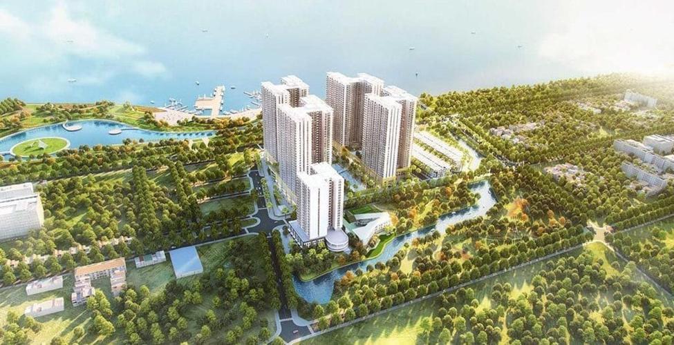 Nội khu Căn hộ Q7 SAIGON RIVERSIDE Bán căn hộ Q7 Saigon Riverside tầng thấp, diện tích 66m2 - 2 phòng ngủ, chưa bàn giao
