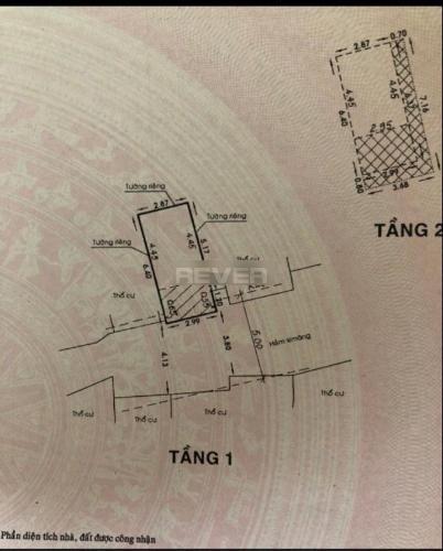 Bản vẽ nhà phố Quận Bình Thạnh Nhà phố 1 trệt 2 lầu hướng Đông thoáng mát, khu dân cư an ninh.