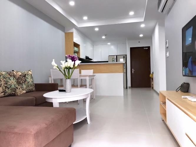 Căn hộ tầng 20 The Gold View ban công hướng Tây Bắc, đầy đủ nội thất.