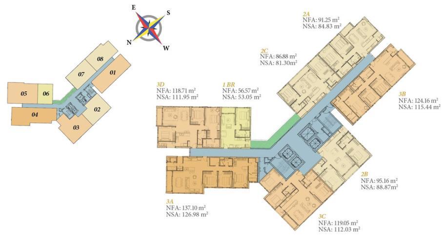 LAYOUT căn hộ Diamond Island Căn hộ Diamond Island đầy đủ nội thất sang trọng, view thành phố.