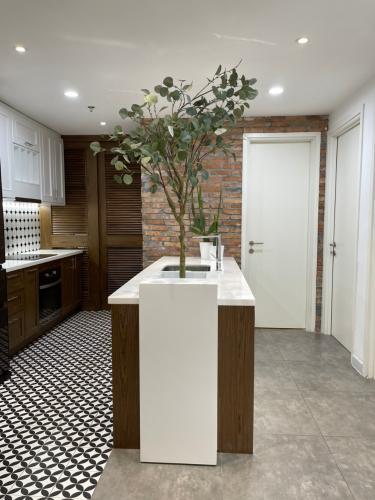 Phòng bếp căn hộ Duplex Masteri Thảo Điền, Quận 2 Căn hộ Duplex Masteri Thảo Điền nội thất đầy đủ, view đón gió.