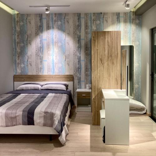 Phòng ngủ  căn hộ Saigon South Residence Căn hộ Saigon South Residence tầng trung, đầy đủ nội thất tinh tế.