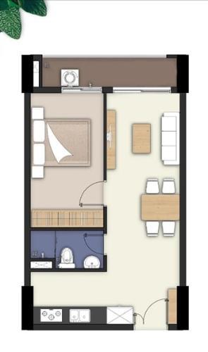 Căn hộ Lavita Charm tầng 4 diện tích 45.36m2, nội thất cơ bản.