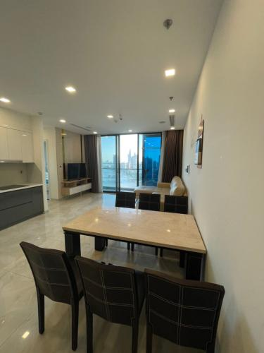 Phòng khách căn hộ Vinhomes Golden River, Quận 1 Căn hộ Vinhomes Golden River đầy đủ nội thất, thiết kế sang trọng.