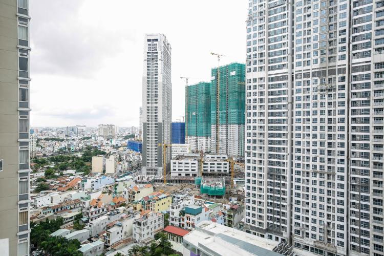 View nhìn về Bình Thạnh Căn hộ 3 phòng ngủ tầng cao Ruby 1 Saigon Pearl