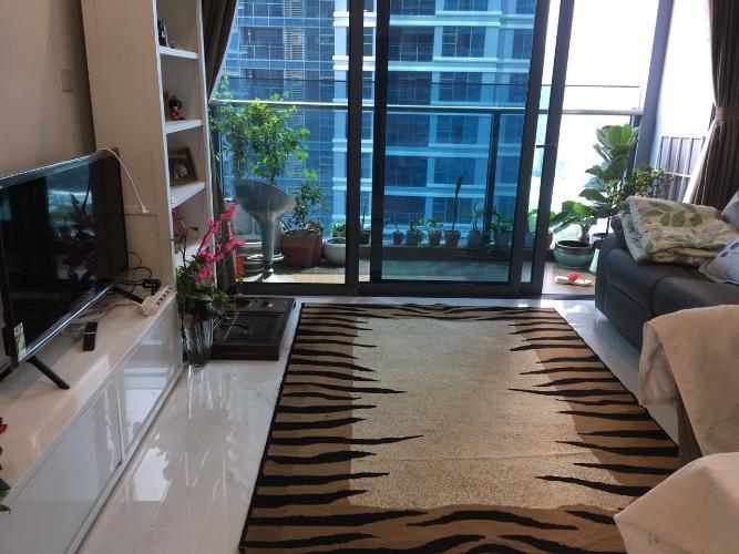 Phòng khách căn hộ Sunwah Pearl  Căn hộ Sunwah Pearl đầy đủ nội thất, hướng Tây Nam